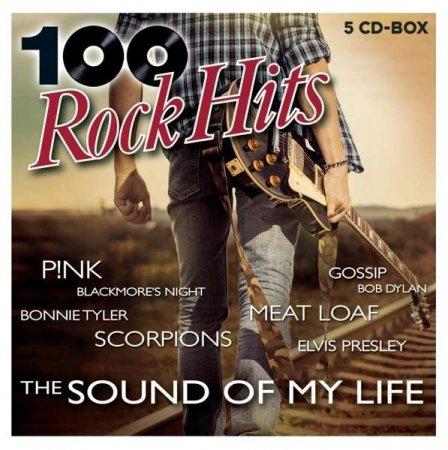 Обложка 100 Rock Hits - The Sound Of My Life (5CD) (2020) Mp3